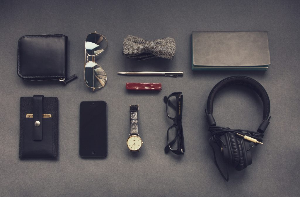 Collection of items representing personal branding in equity crowdfunding